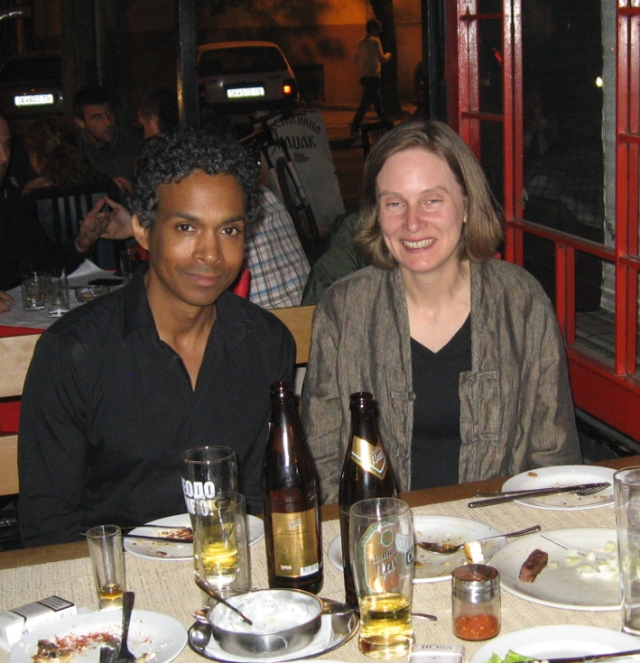 David Chariandy and myself, in Macedonia at last.