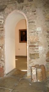 A doorway between rooms in the Čifte Amam National Art Gallery. Note the art!