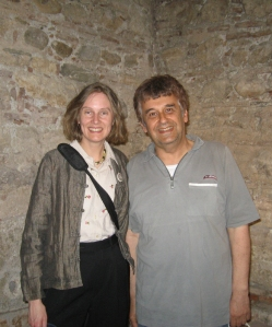 The truants, Dr. Aleksandar Prokopiev and I, reach the bathhouse at last.