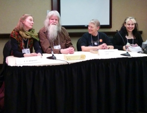 """""""Seriously?"""" The cover art panel -- lots of fun."""