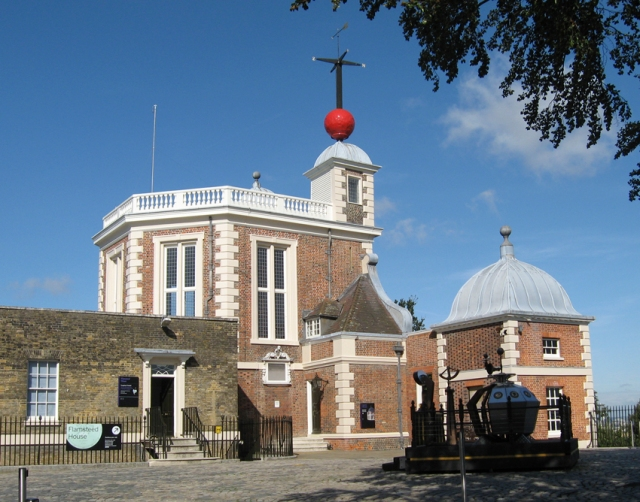 Flamstead House, the oldest of the observatory buildings, where it all began. Also part of the Longitude Steampunk'd exhibit.
