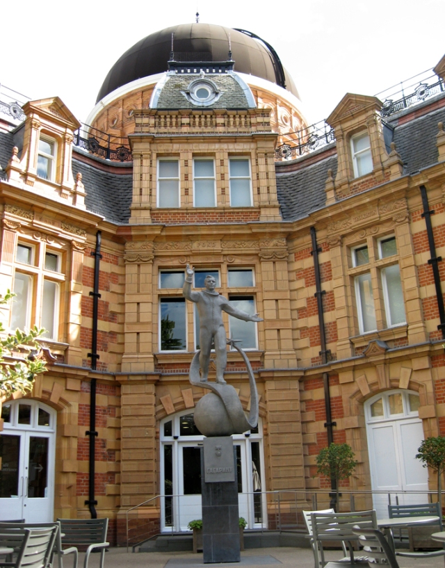 Statue of Yuri Gagarin, Royal Observatory, Greenwich. We have a flag that blew off his car.
