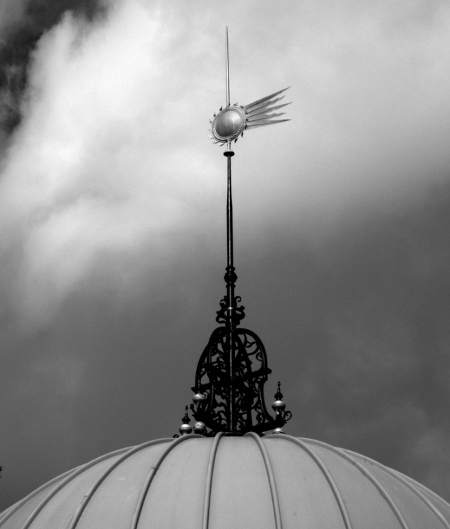 The Halley's Comet weathervane at the Observatory.