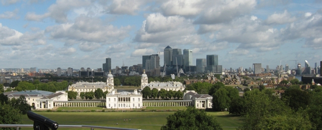 The view down from the Greenwich Observatory. Of course, it's an observatory so one is meant to look up as well.