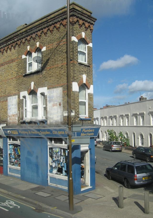 A strangely narrow hardware store in Greenwich.