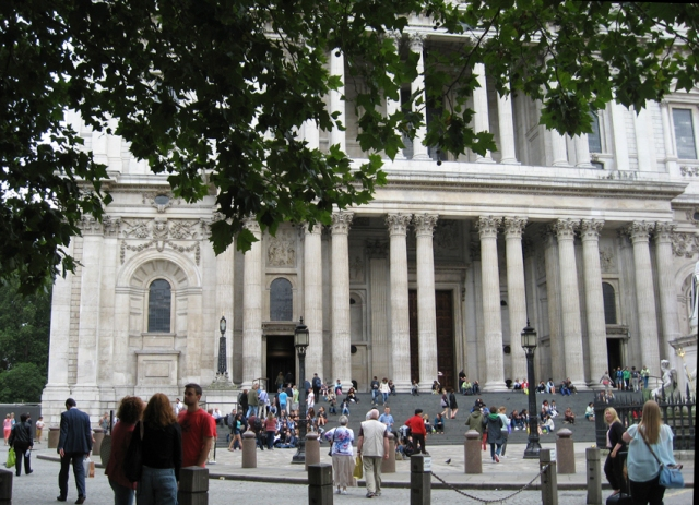 The steps of St. Paul's.