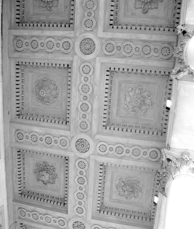 Ceiling of the portico of St. Martin's-in-the-Fields.