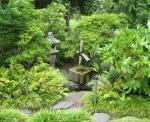 A fountain in the Japanese Garden.