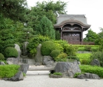 Another view (of a replica shrine) in the Japanese Garden.