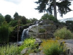 A waterfall in the rock garden. It took ages to get this shot. Undecorative humans kept clambering all over it.